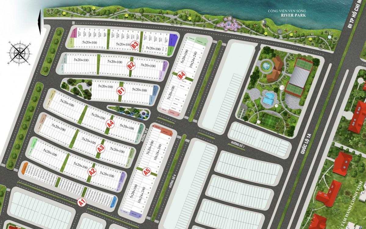 Mặt bằng dự án Lavilla Green City