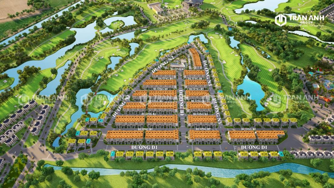 Mặt bằng dự án West Lakes Golf & Villas