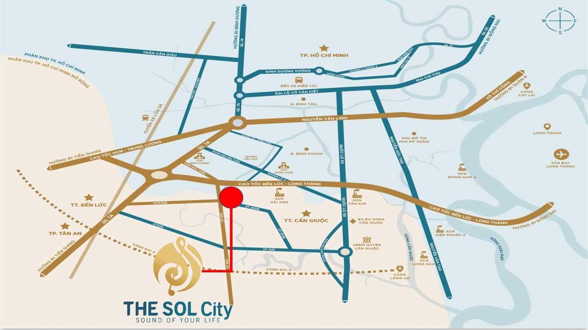 Vị trí dự án The Sol City